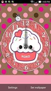 Happy Cupcake Clock Desktop Theme