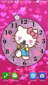 Love Kitty Clock Desktop Theme
