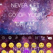 Cosmos Emoji Keyboard Theme