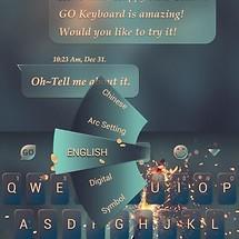 Best Wish GO Keyboard Theme