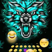 Turquoise Emoji Keyboard Theme