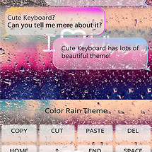 Color Rain Emoji Keyboard Skin