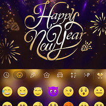 New Year Emoji Keyboard Theme