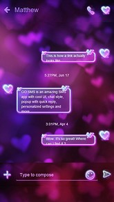 Romantic GO SMS