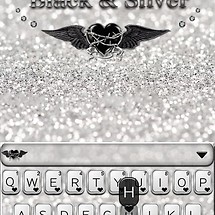 Black & Silver Kika Keyboard