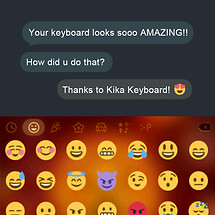 Fire Lion Emoji Kika Keyboard