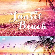 Sunset Beach Kika Keyboard