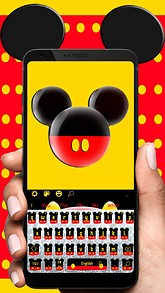 Free android themes mobiles24 twinkle cute micky bow keyboard theme voltagebd Choice Image