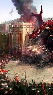 City Attacked By Dragons