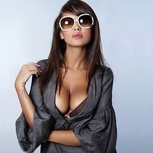Model With Glasses On