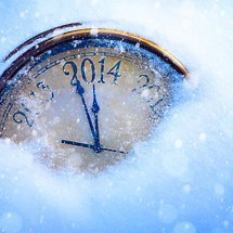 New Year 2014 Clock