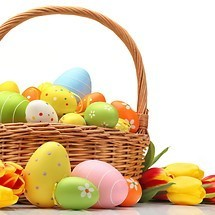 Colorful Easter Egg Basket