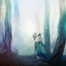 Fantasy Girl In Forest