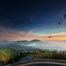 Hot Air Balloon Dusk