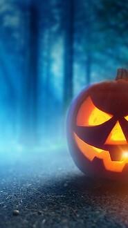 Scary Halloween Jack O'Lantern