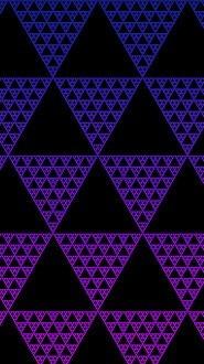 Illusion Triangles Blue