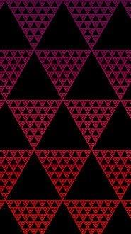 Illusion Triangles Red