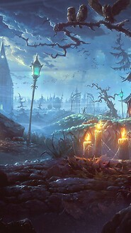 Scary Halloween Scene