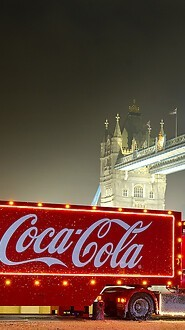 Coca Cola Christmas Truck London