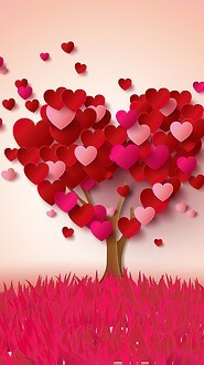 Valentines Day Heart Tree