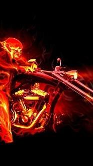 Fire Biker Skeleton