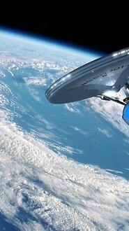 USS Enterprise In Earth Orbit