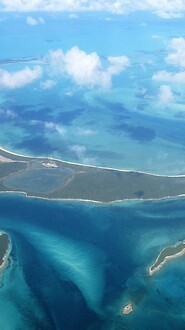 Aerial View Of Pink Sands Beach, Bahamas