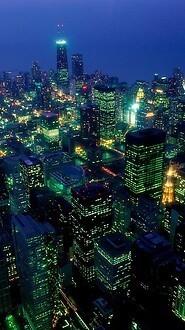 After Dark In Chicago, Illinois