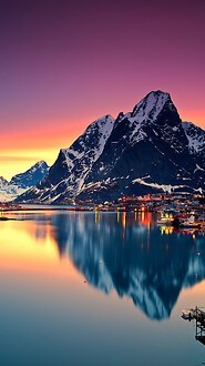 Lofoten Lake Sunset