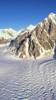 Merging Glaciers, Alaska