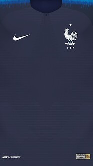0 France 2018 World Cup Home Jersey