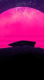 Synthwave Sunset Free Wallpaper download - Download Free