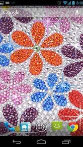 Flower Rhinestones Live Wallpaper