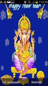 Ganesh New Year Live Wallpaper