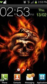 Fire Skull Snake Live Wallpaper