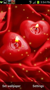 Red Heart Candle Live Wallpaper