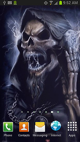 Lightning Death Skull Live Wallpaper