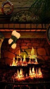 Fireside Christmas live wallpaper