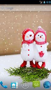 Two Snowmen Live Wallpaper