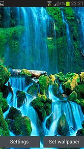 Blue Waterfall Beauty Live Wallpaper