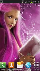 Pink Hair Live Wallpaper