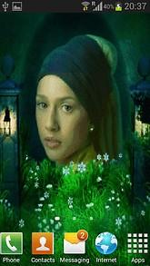 Girl In Flower Live Wallpaper