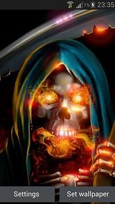 Fiery Reaper Live Wallpaper