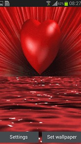 Red Water Heart LWP