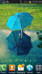Blue Umbrella Live Wallpaper