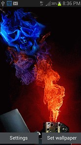 Blue Skull Lighter LWP