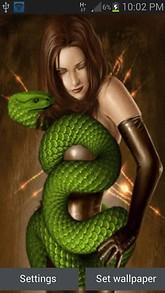Green Cobra Girl LWP