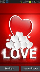 White Heart Love LWP