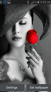 Lady With Rose LWP