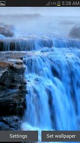 Foggy Blue Waterfall LWP